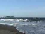 辻堂西海岸からみた江ノ島