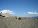 台風通過後の辻堂海岸